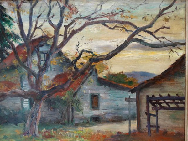 Autumn Farmhouse Ejnar Hansen (1884 – 1965) 1930s-40s Oil on Canvas