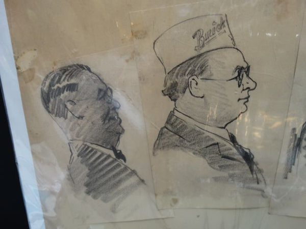 Charles Owens Buick Dealer Conventioneers Sketches
