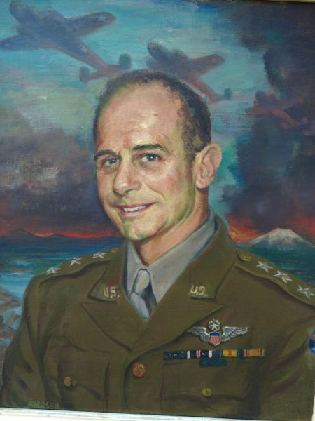 Ejnar Hansen Portrait of General James H. Doolittle (1940s) Oil on Canvas