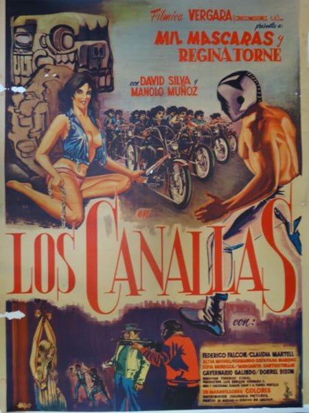 LOS CANALLAS -- Infernal Angels Vintage Mexican Movie Poster