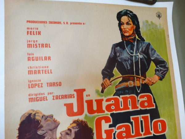 JUANA GALLO -- 1961 Vintage Mexican Cinema Poster