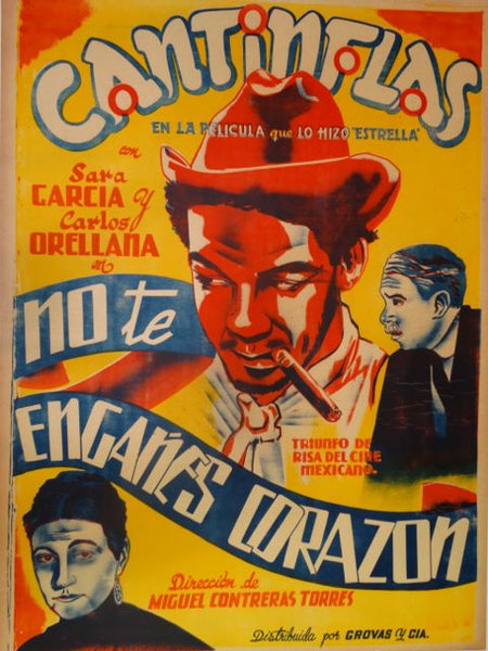 Cantinflas Note Enganes Corazon Original Movie Poster