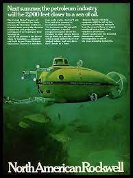 North American Rockwell Submarine Desk Toy 1968 A2563