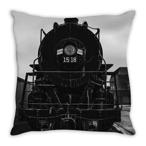 Vintage Locomotive Pillow Cover, Pillow Cover - Enzwell Artworks