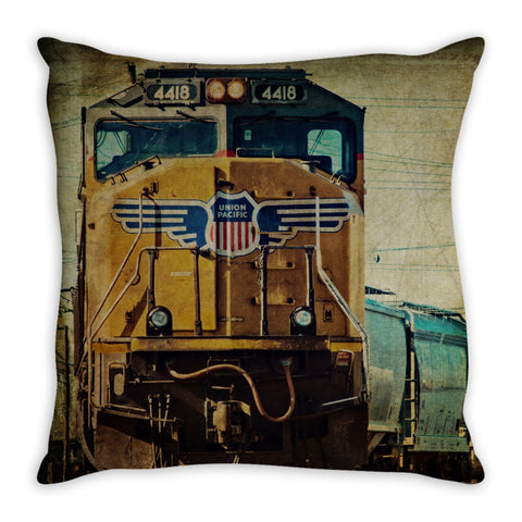 A Train to Chicago Pillow, Pillow Cover - Enzwell Artworks