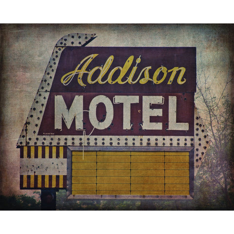 Addison Motel - Chicago, Fine Art Print - Enzwell Artworks