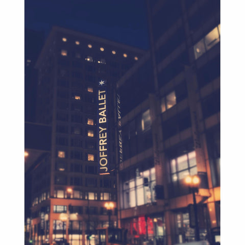 Joffrey Ballet Sign At Night - Chicago, Fine Art Print - Enzwell Artworks