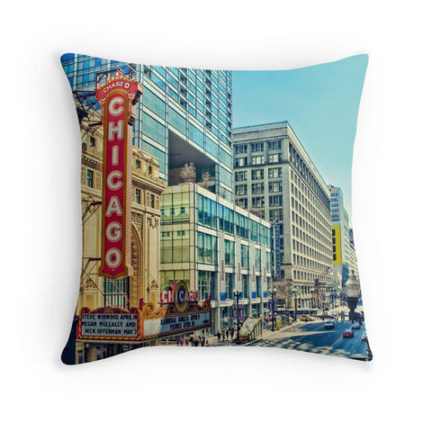 A Street in Chicago - Pillow, Pillow Cover - Enzwell Artworks