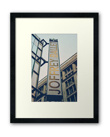 Joffrey Ballet Sign - Chicago, Fine Art Print - Enzwell Artworks