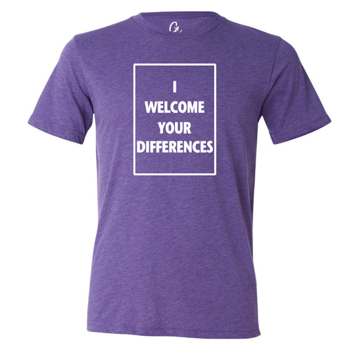 I WELCOME YOUR DIFFERENCES™ TEE - PURPLE