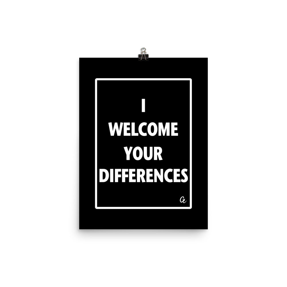 I WELCOME YOUR DIFFERENCES™ WALL ART