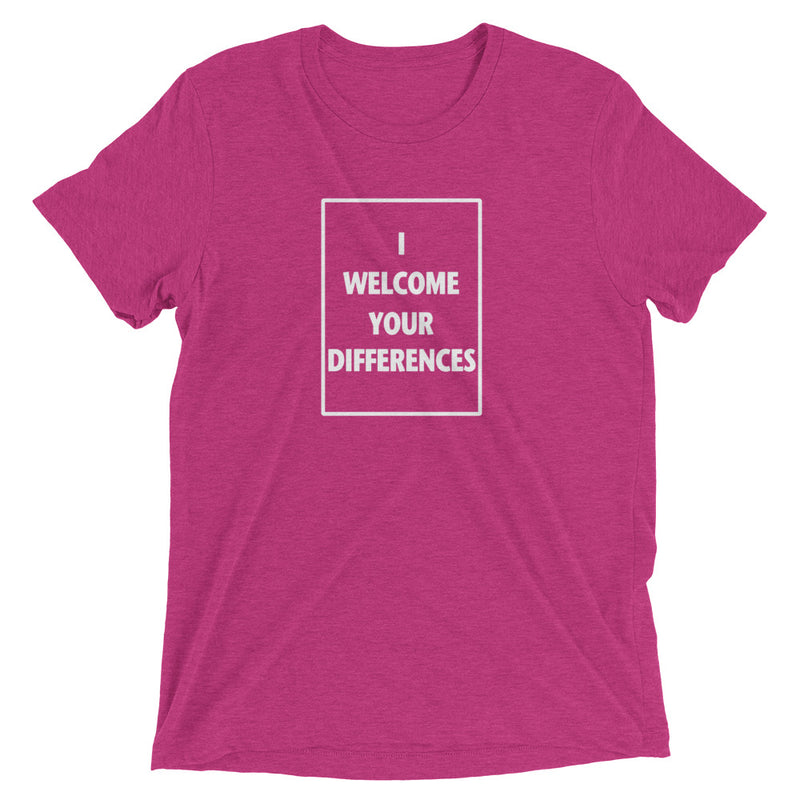I WELCOME YOUR DIFFERENCES™ TEE - BERRY