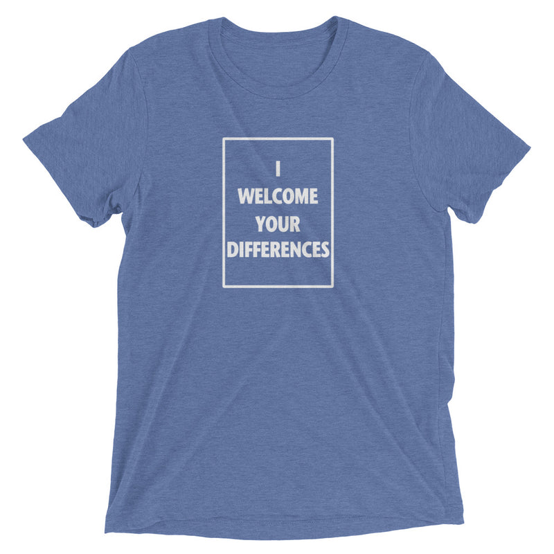 I WELCOME YOUR DIFFERENCES™ TEE - BLUE