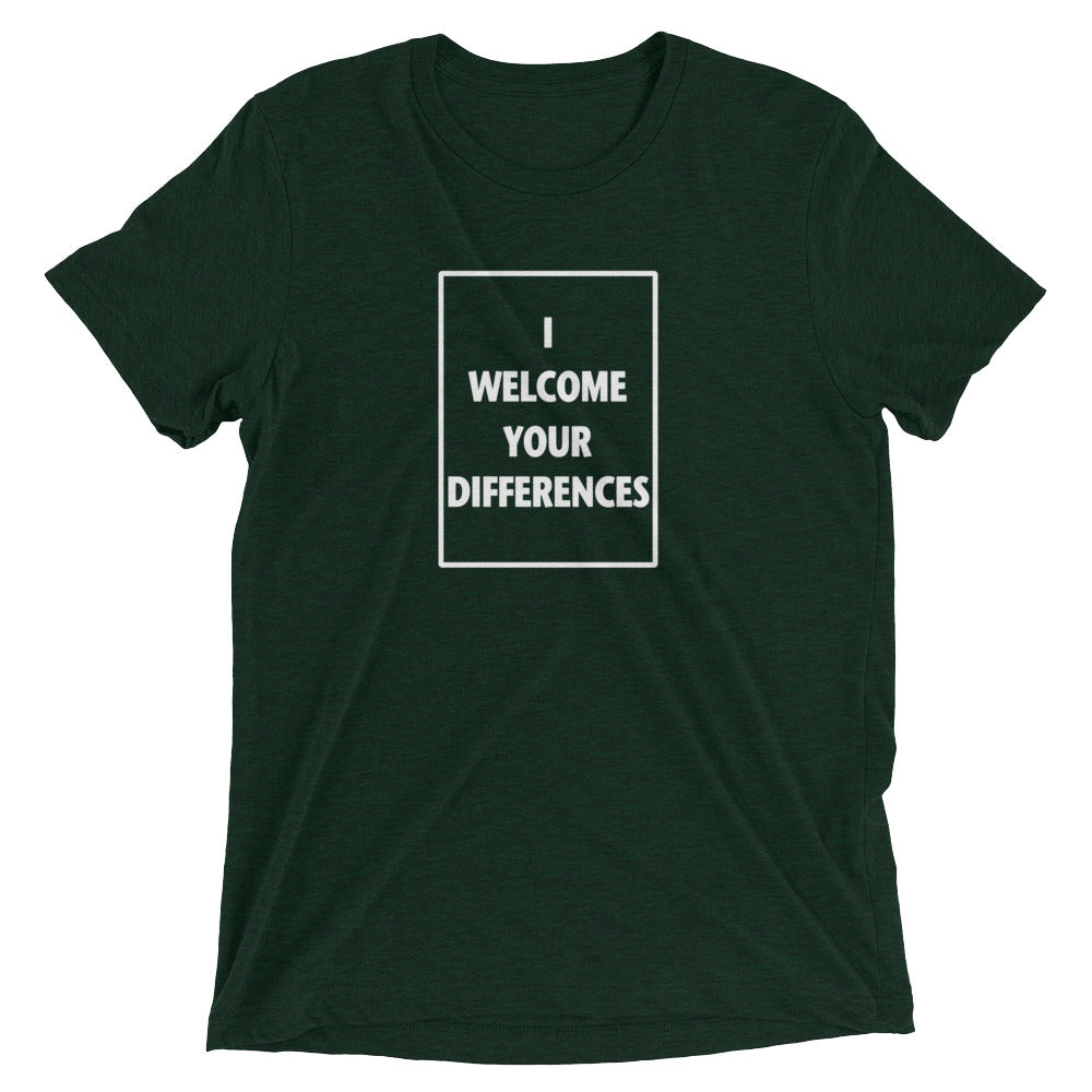 I WELCOME YOUR DIFFERENCES™ TEE - EMERALD