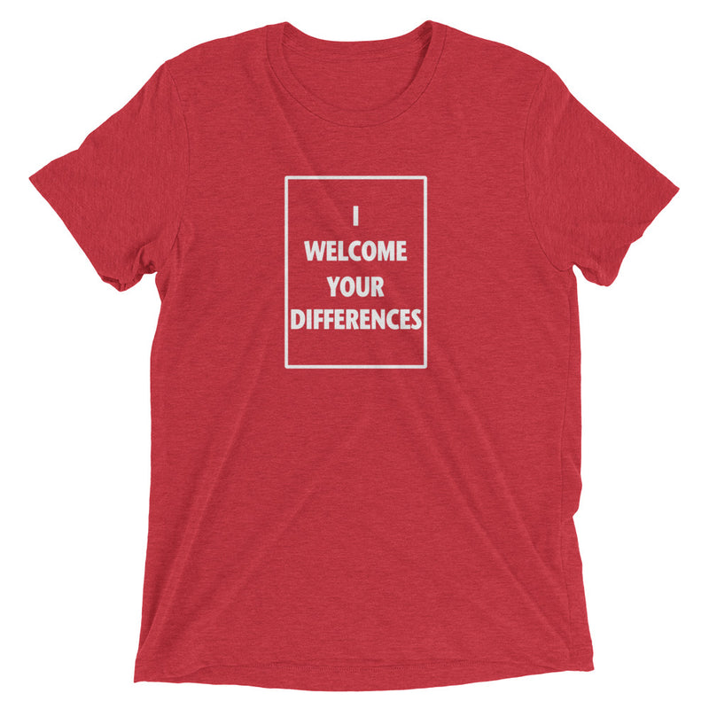 I WELCOME YOUR DIFFERENCES™ TEE - RED