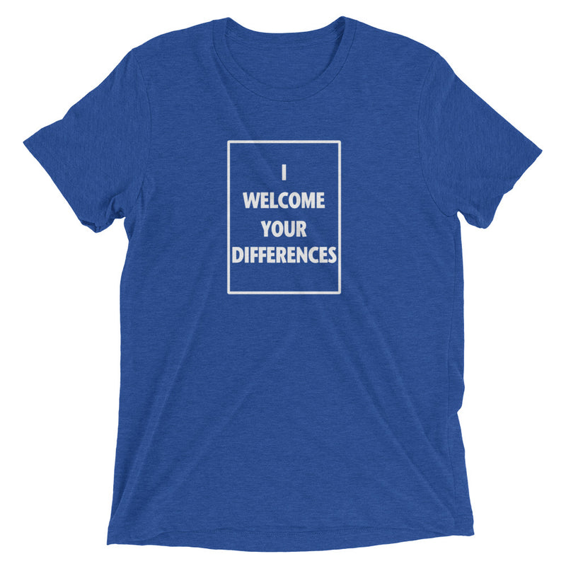 I WELCOME YOUR DIFFERENCES™ TEE - ROYAL BLUE