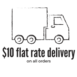 $10 flat rate shipping on all orders