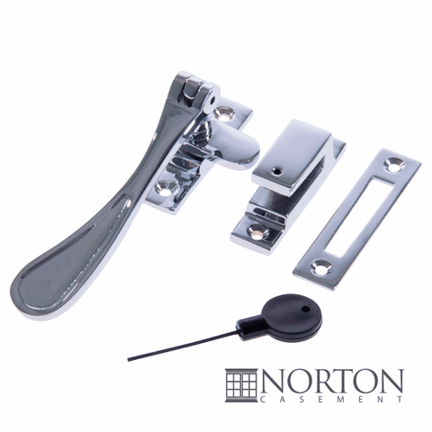 Spoon Type Casement Locking Fastener Locking - Polished Chrome