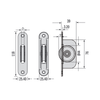 Chrome radius end sash pulley dimensions