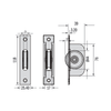 Chrome square end sash pulley dimensions