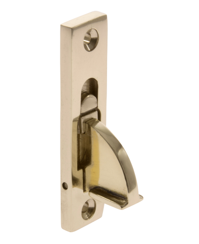 image of sash window restrictor brass