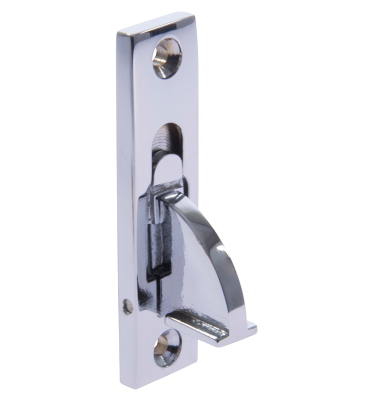 image of sash window restrictor plished chrome