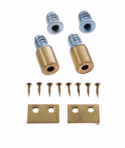 Locking Window Stop - Polished Brass 19mm