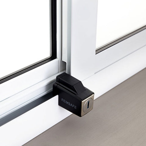 Remsafe Venlock | Sliding Aluminium Window Restrictor - Black