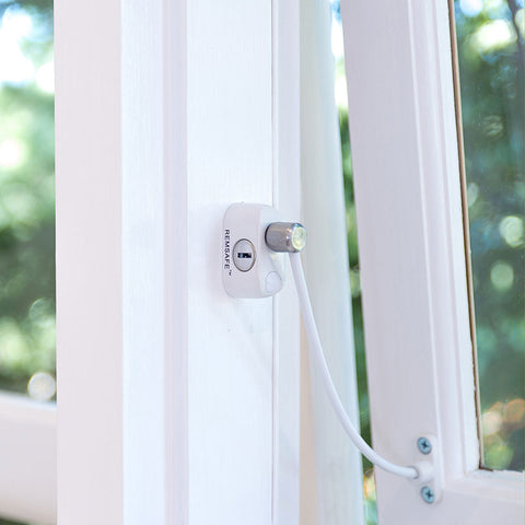 Remsafe Cable Lock Window Restrictor - White