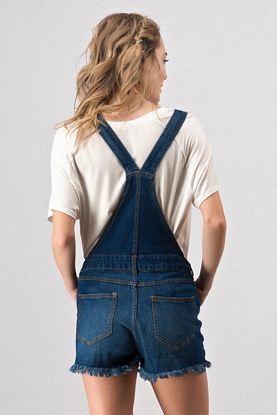 Harper Distressed Denim Overalls - Native Mermaid Boutique