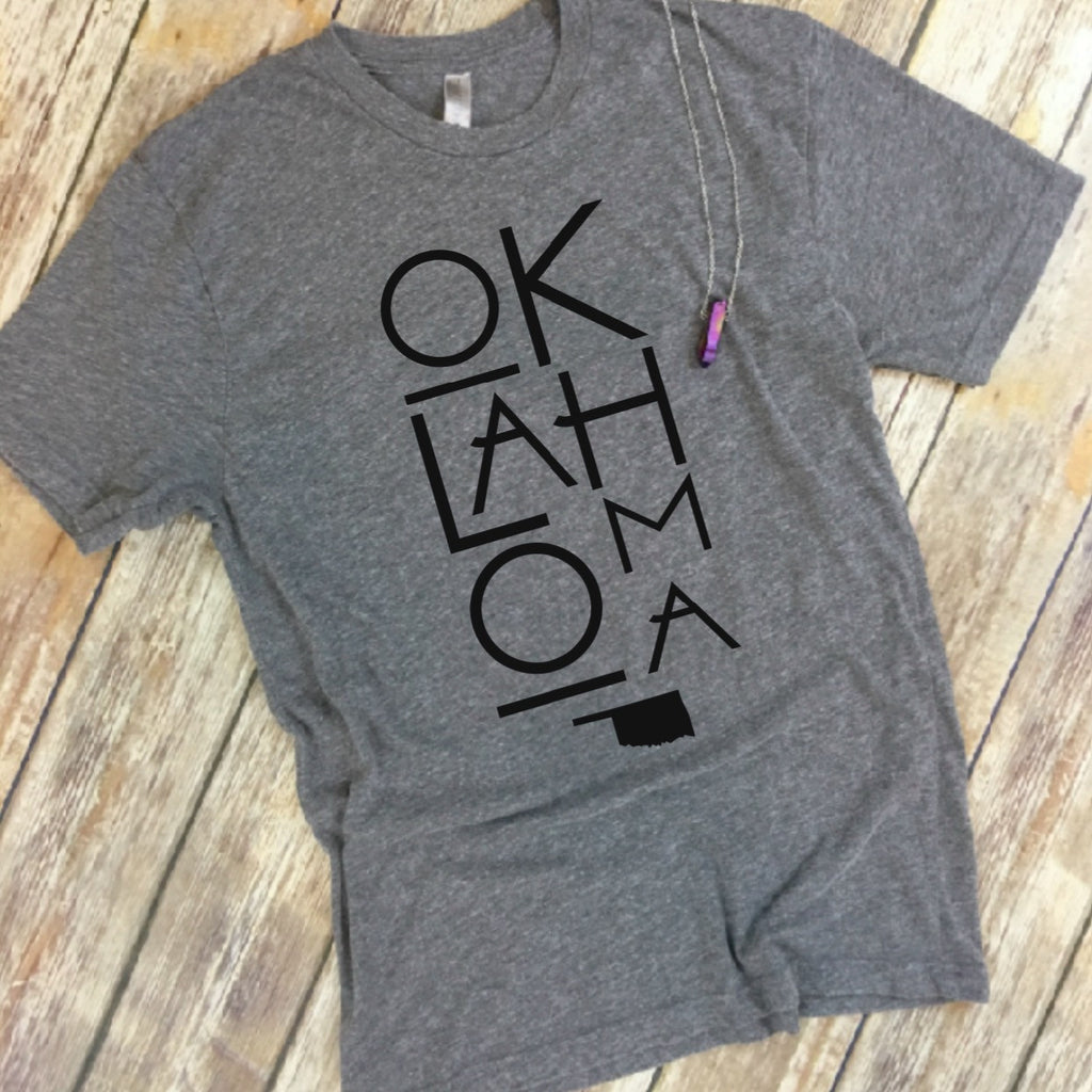 Oklahoma Stacked Tee - Native Mermaid Boutique