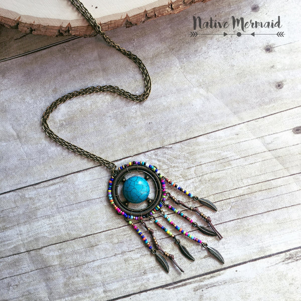 Boho Beaded Dreamcatcher - Native Mermaid Boutique
