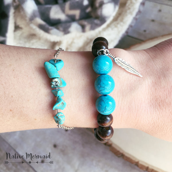 Turquoise Howlite Bracelet - Native Mermaid Boutique