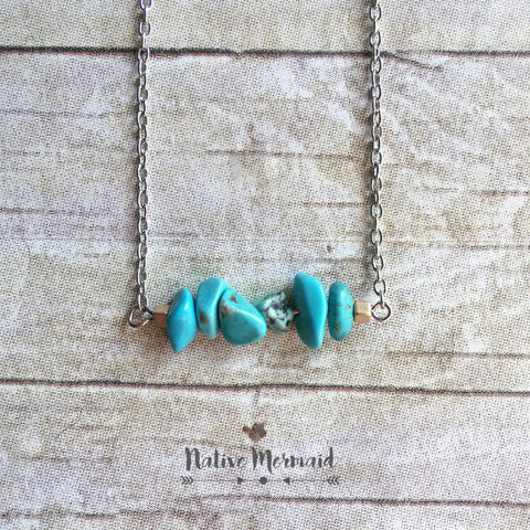 Turquoise Howlite Necklace - Native Mermaid Boutique
