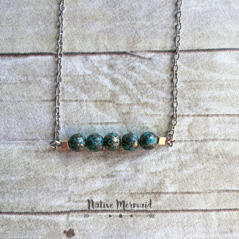 Turquoise and Bronze Necklace - Native Mermaid Boutique