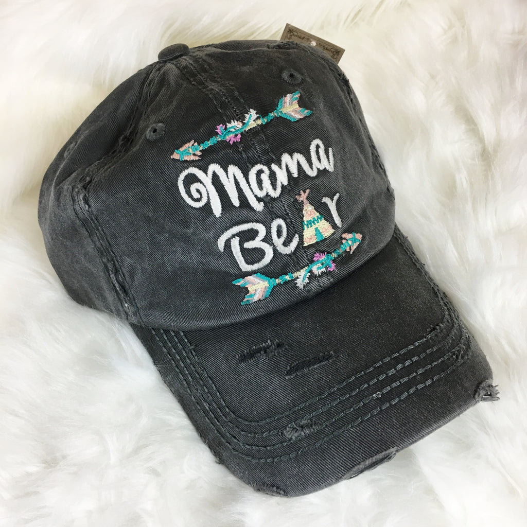 Mama Bear TeePee and Arrows Hat - Native Mermaid Boutique