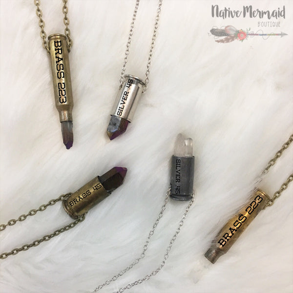Bullet Crystal Necklace - Native Mermaid Boutique