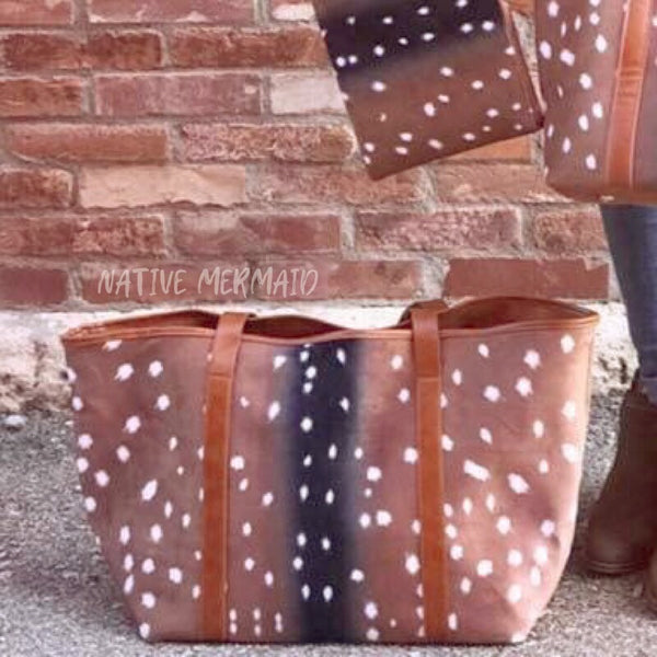 Axis Deer Print Tote - Native Mermaid Boutique