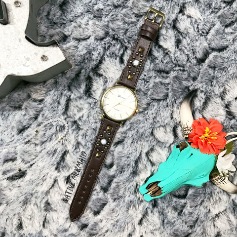 Stone Studded Watch - Native Mermaid Boutique