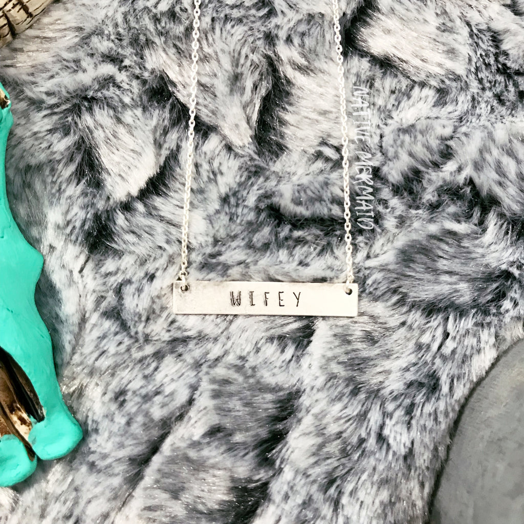 Wifey Bar Necklace - Native Mermaid Boutique