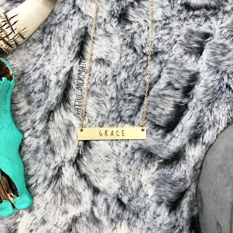 Grace Bar Necklace - Native Mermaid Boutique