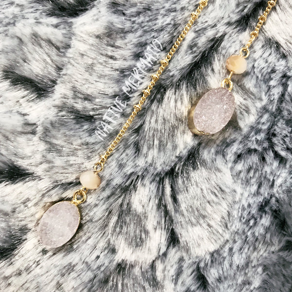 Druzy Layered Necklace - Native Mermaid Boutique