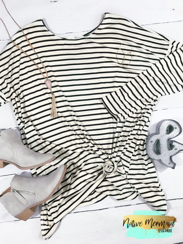 Striped Long Sleeve Tunic