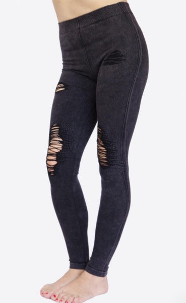 Distressed Jeggings - Native Mermaid Boutique