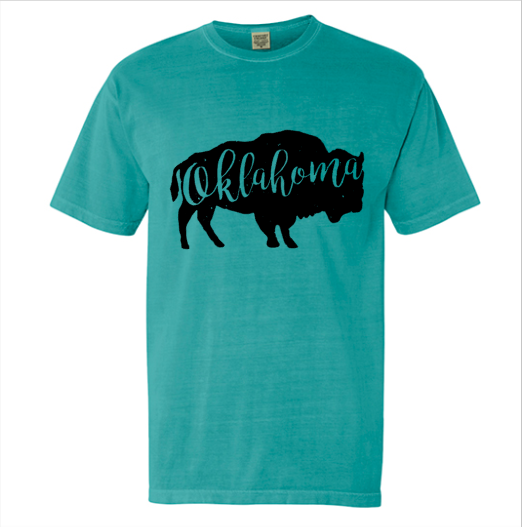 Oklahoma Bison Shirt - Native Mermaid Boutique