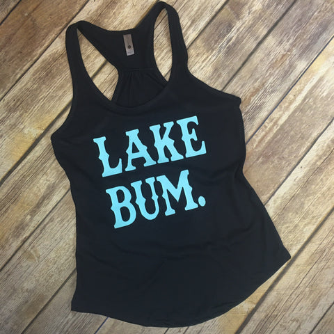 Lake Bum Racerback Tank - Native Mermaid Boutique