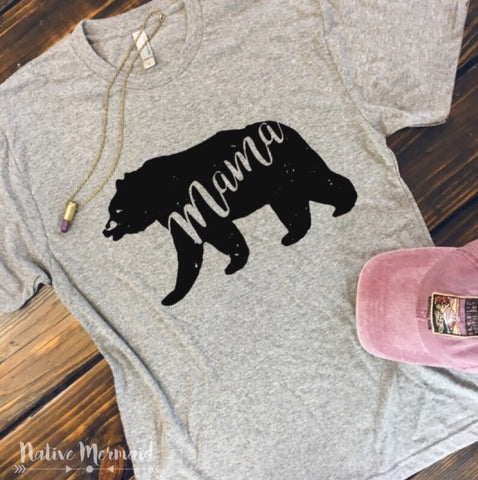 Mama Bear Shirt - Native Mermaid Boutique