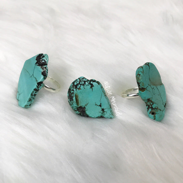 Turquoise Slab Ring - Native Mermaid Boutique