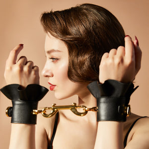 ZALO & UPKO Doll Designer Collection Leather Lacelike Handcuffs