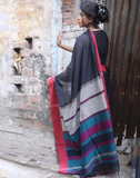 Striking Black Pure Handloom Saree